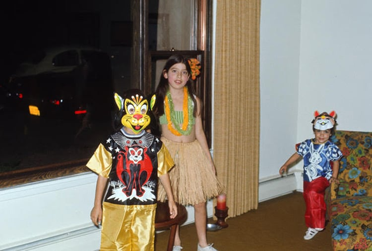 Young Fran Maier dressed up. Halloween costume memories