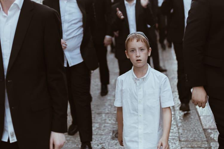 jewish boy during hanukkah