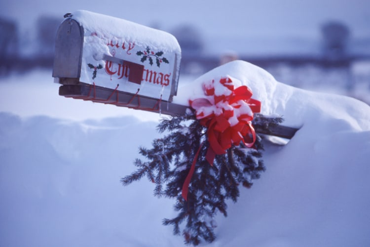 santa's mailbox at the north pole for letter to santa