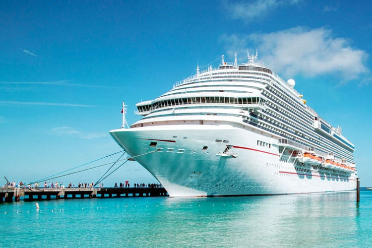 cruise ship in the bay