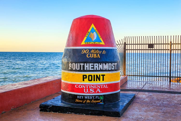 southernmost point of US, Key West, Florida