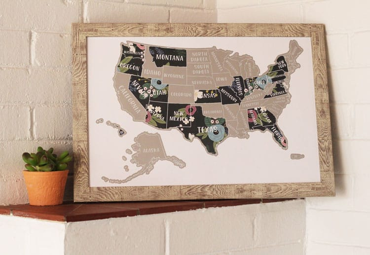 scratch off map for mom gift