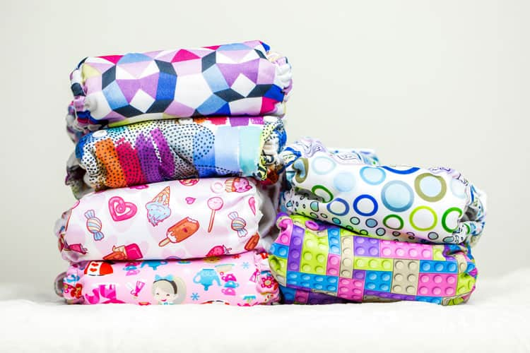 cloth diapers with cute patterns