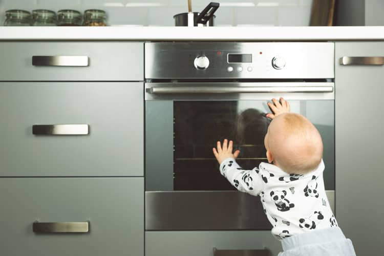 baby proofing the kitchen stove