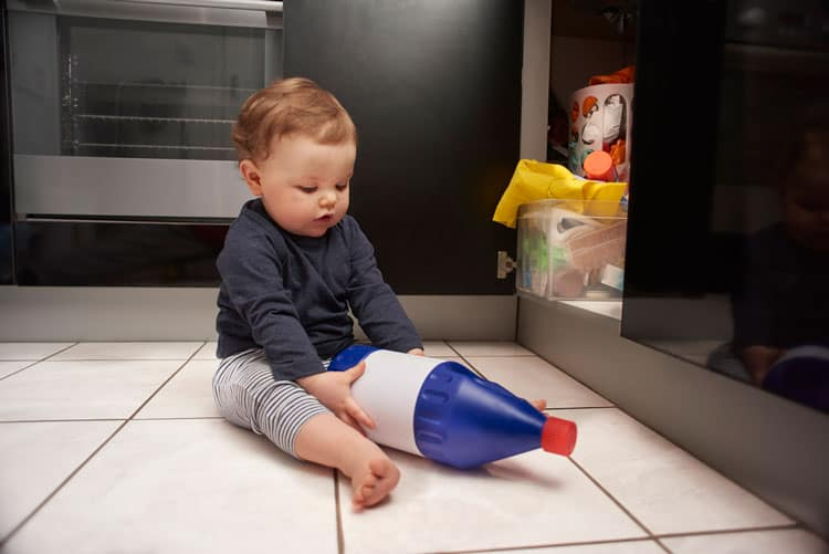 baby proofing in the kitchen is important