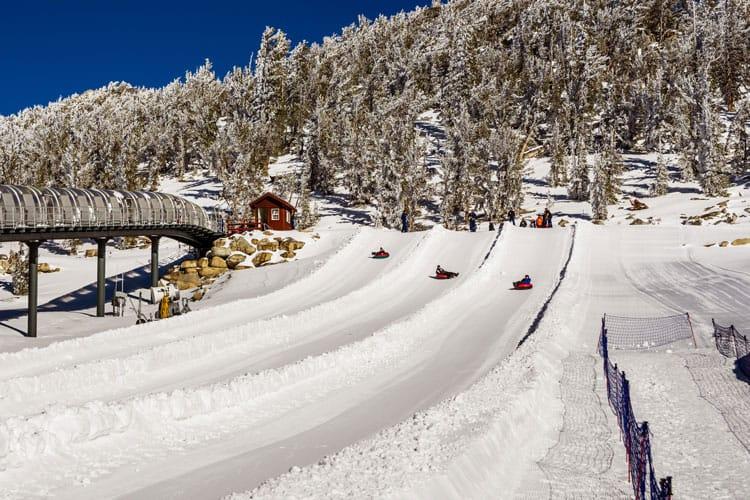 snow tubing at Heavenly Resort